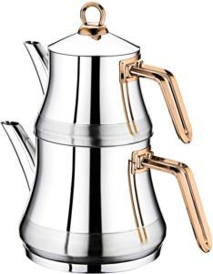 Oms Çelik Medium Çaydanlık Seti 8075-B