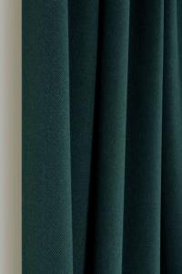 Belle Cose Country 140x270cm Tek Kanat Zümrüt Yeşil Fon Perde