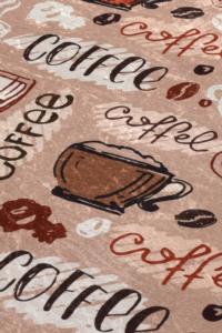 Chilai Home Cup Of Coffee Djt Kaymaz Tabanlı Mutfak Halısı