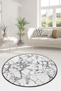 Chilai Home Marble Beyaz Djt Daire 100x100cm Halı