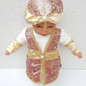 Yeni Model Bordo Şehzade Bebek Mevlüt Tulumu