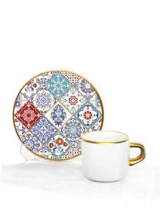 Asena Türk Kahve Seti 6 lı Tile Art