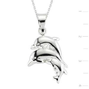 Gümüş Yunus Balığı Kolye