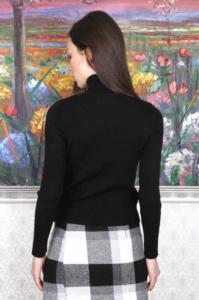 Moda Verona Siyah Balıkçı Yaka Triko Bluz