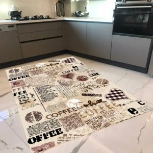 Milano Halı Kaymaz Tabanlı Mutfak Halısı Yıkanabilir Dot Taban HM-556
