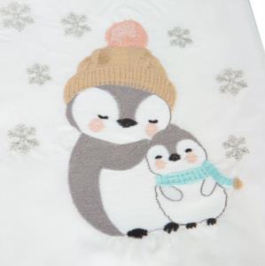 Karaca Home Bambino Penguins Gri Nakışlı Private Bebek Seti