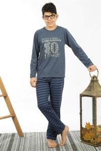 Akbeniz Çocuk Pamuk Uzun Kollu Pijama Takımı 4558