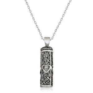 Gümüş Kalp Desenli Cevşen-ül Kebir Kolye