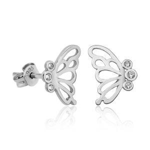 Gümüş Kelebek Bayan Küpe