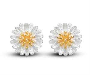 Gümüş Bahar Çiçeği Papatya Küpe