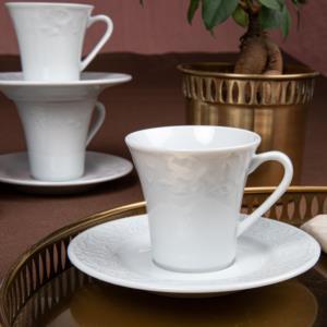 Güral Porselen 12 Parça Bahar Dalı Türk Kahvesi Takımı BHD12KT00