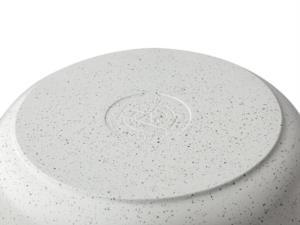 Taç Gravita Döküm Basık Tencere 24 cm Beyaz 3422