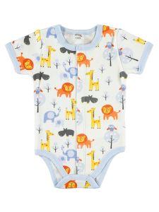 Civil Baby Erkek Bebek Çıtçıtlı Badi 0-18 Ay Mavi