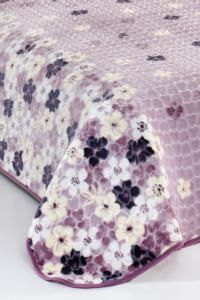 Evlen Home Flower Çift Kişilik Battaniye 220X240 cm  (B01)