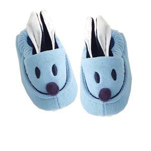 Tavşan Kulaklı Penye Kaymaz Taban Bebek Panduf Patik Mavi
