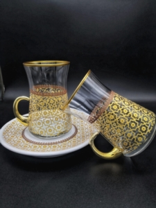 Özcam Kristal 18 Parça Desenli Çay Takımı D-1253