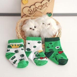 Kurbağa 3 lü Erkek Bebek Çorap Seti
