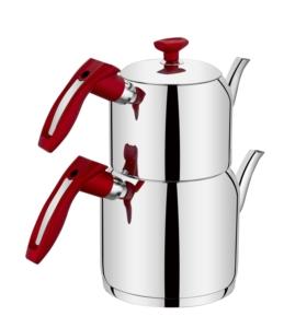 Evimsaray İdil Aile Boy Kırmızı Çaydanlık- S-7116