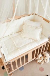 Aybi Baby Dantelli Krem Anne Yanı Beşik Tekstili 4304