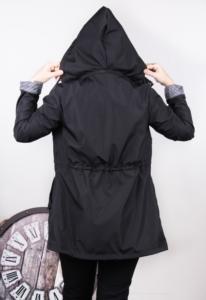 Mişa Butik Kısa Trenç Kadın Yağmurluk Siyah