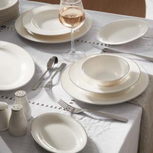Karaca Lexi Platin 56 Parça 12 Kişilik Yemek Takımı