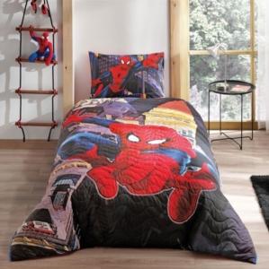 Taç  3478 Lisanslı Dört Mevsim Set Tek Kişilik Spiderman In City