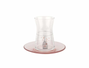 Tantitoni 12 Parça Kafes Desenli Çay Bardağı Takımı HARE 42361KFS