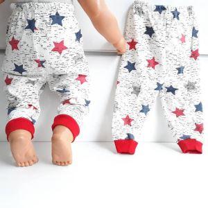 Yıldızlı Laci Kırmızı Tek Alt Bebek Penye Pijama