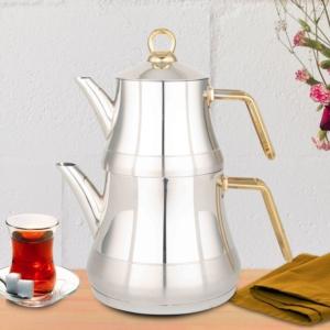 Fms Yıldız Serisi Altın Kulplu Büyük Boy Çaydanlık- 4060-ALT