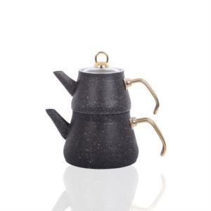 Bayev Metal Saplı Granit Çaydanlık 200469 - Siyah