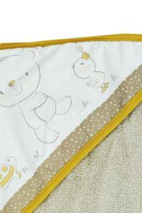 Ephemeris Soft Pamuk 100x100cm Bebek Panço - Ayıcık Sarı