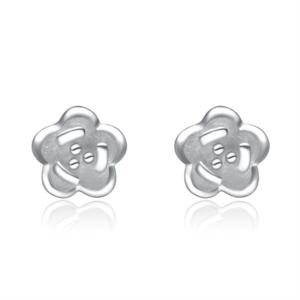 Gümüş Tasarım Çiçek Küpe