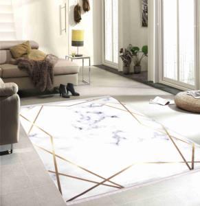 Seven Home Dekoratif Kaymaz Dokuma Tabanlı Halı 57- FM 2020