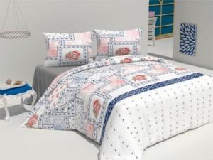 Bedbox Tek Kişilik Polycotton Mimoza Mavi Nevresim Takımı 4062