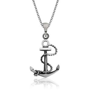 Gümüş Denizci Çapası Kolye