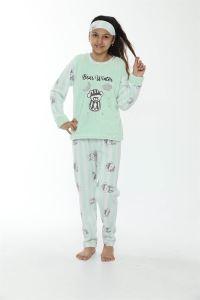 Akbeniz WelSoft Polar Kız Çocuk Pijama Takımı 4533