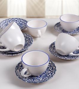 Keramika 12 Parça 6 Kişilik Osmanlı Mat Çay Takımı- 17667