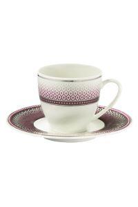 Kütahya Porselen Bone Kalipso 9203 Desen Kahve Fincan Takımı