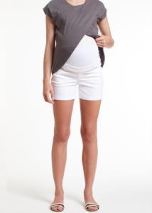 4M Moda White Kadın Hamile Şort