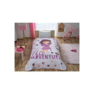 Taç Kristal Tek Kişilik Lisanslı Dora Adventure Battaniye