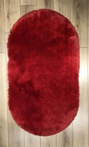Markaev Tavşan Tüyü Kırmızı Oval Halı