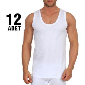 Seher Beyaz Erkek Penye Atlet 12