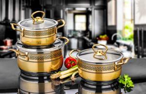 Özlife Ceylin 6 Parça Dekorlu Siyah Gold Set- 507