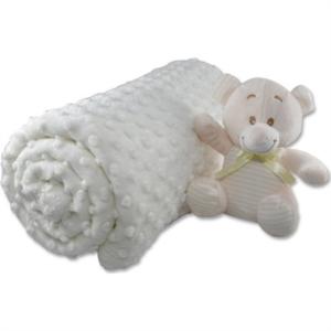 İpekçe Home Tomurcuk Bebek Battaniye Krem