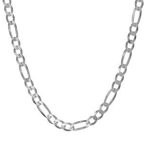 1.50 mm Gümüş Figaro Zincir - 0.40 mikron