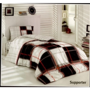 Taç Kristal Lisanslı Tek Kişilik Uyku Seti Supporter Siyah Beyaz