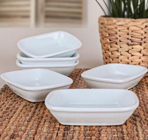 Keramika 6 Adet 13 Cm Kayık Dikdörtgen Beyaz
