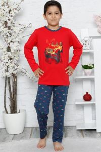 Akbeniz Çocuk Pamuk Uzun Kollu Pijama Takımı 4542