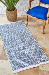Karaca Home Morocco Ekru-Lacivert 80X150 cm Kilim