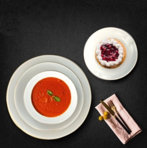 Bayev 24 Parça Yaldızlı Yemek Takımı-Beyaz-800240